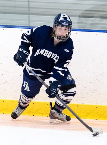 Andover sophomore Lilly Feeney scored the GWG with 5:47 left in the 3rd period as #4 Andover edged #6 New Hampton in Sat. Feb 3 action.