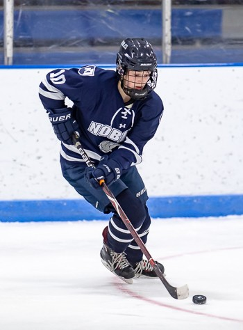 Nobles soph Katie Pyne had a goal and an assist in Nobles' 5-0 home win over St. George's Wed. Jan. 30th.