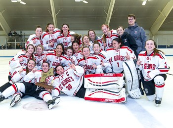 St. George's won the Div. II girls prep championship game with a 3-2 win over Brooks.