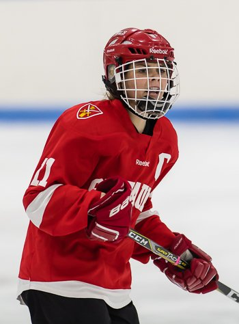 St. Paul's senior F and co-captain Gillis Frechette had 7 points (2g,5a) at the Harrington Tournament.