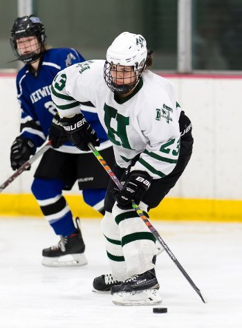 Hebron sophomore Logan Arseneau had two goals and one assist in the Lumberjacks' 4-3 loss at Berwick Academy Thurs. Feb. 22nd.